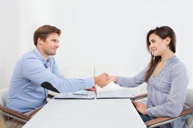 Shaking Hand With Businessman