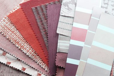 Upholstery and color samples