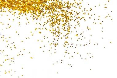 Golden glitter frame background stock vector