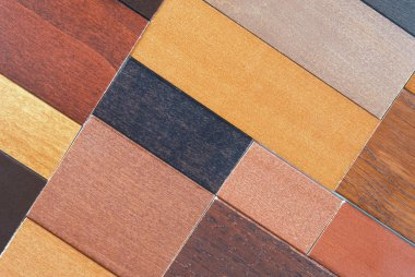 Wood color and texture samples