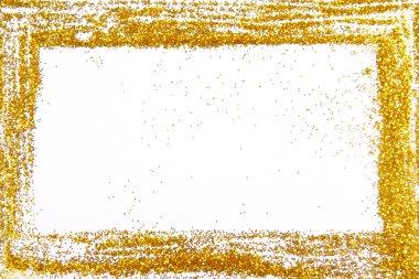 Glitter sparkle frame border background