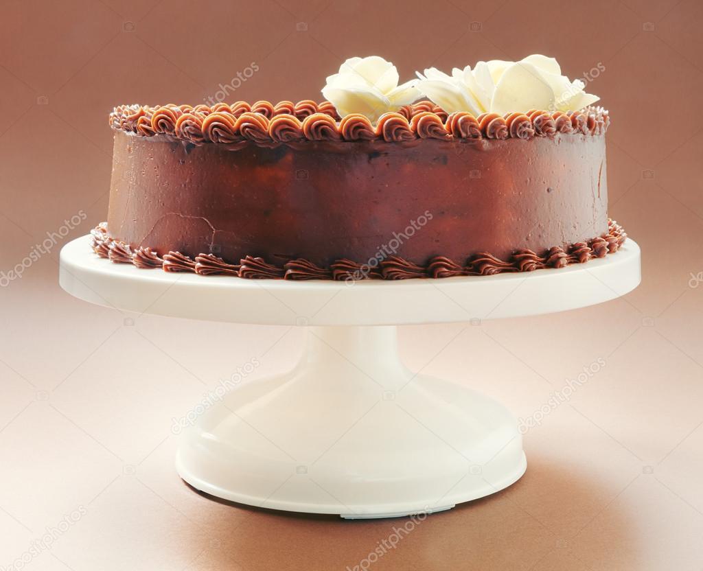 Chocolate Birthday Cake — Stock Photo © krsmanovic #41352983