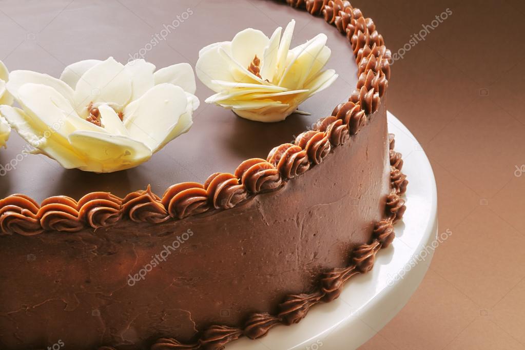 Enjoyable Chocolade Verjaardagstaart Stockfoto C Krsmanovic 41353065 Personalised Birthday Cards Bromeletsinfo