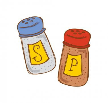 Salt and pepper cartoon