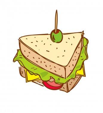Sandwich cartoon