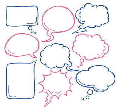 Comic bubble speech stock vector