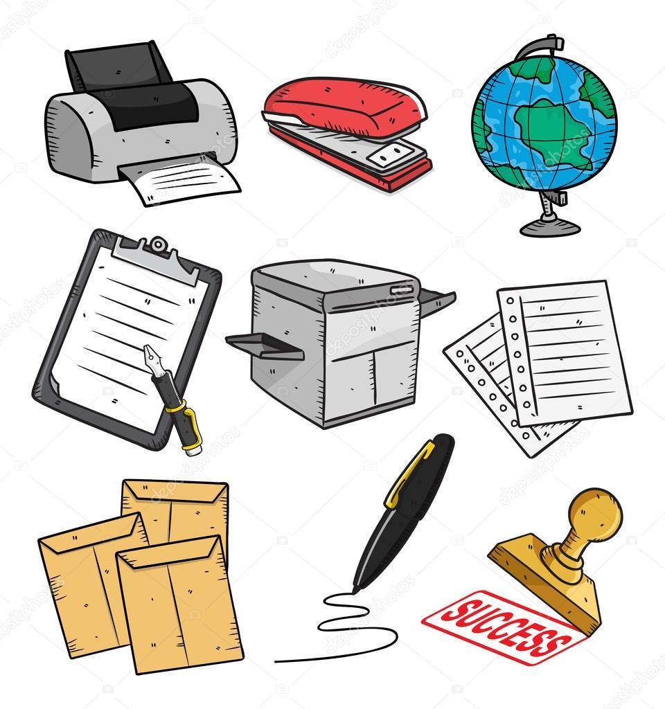 Equipos de oficina vector de stock 12351834 depositphotos for Mobiliario y equipo de oficina