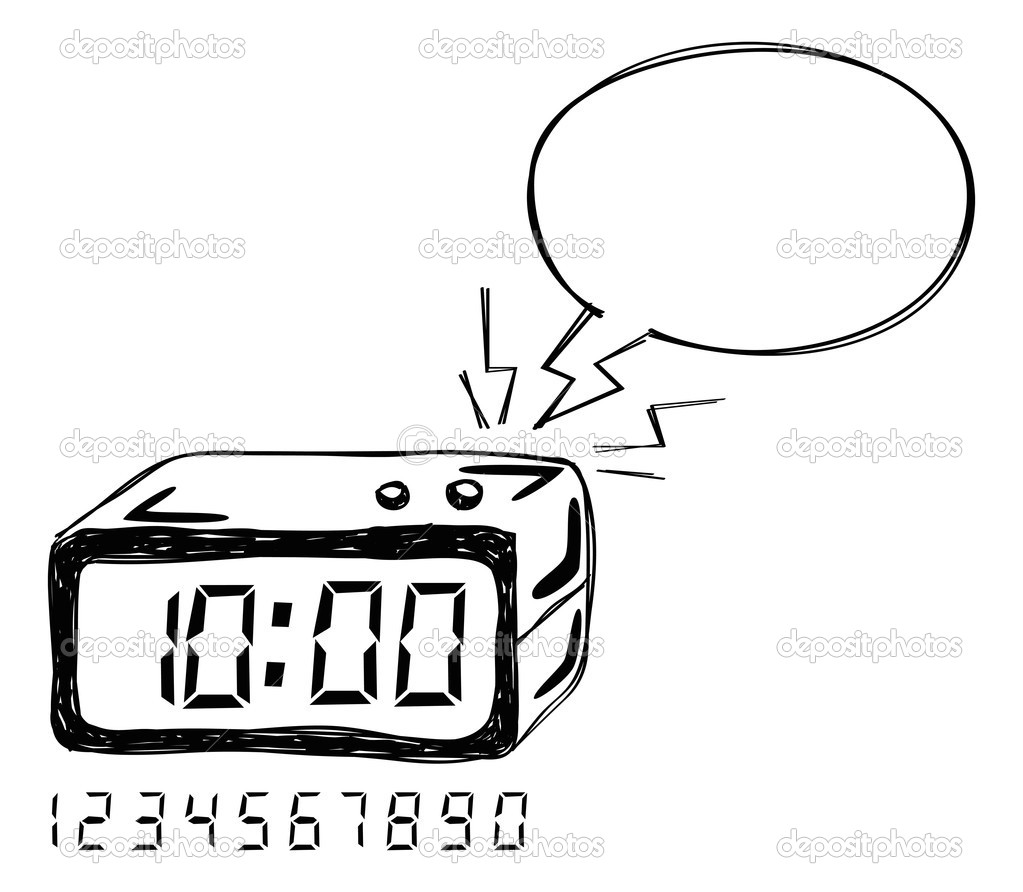 Radio r veil avec discours de bulle image vectorielle - Dessin reveil ...