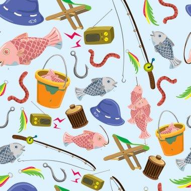 Fishing stuff background
