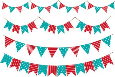 Bunting and garland decoration