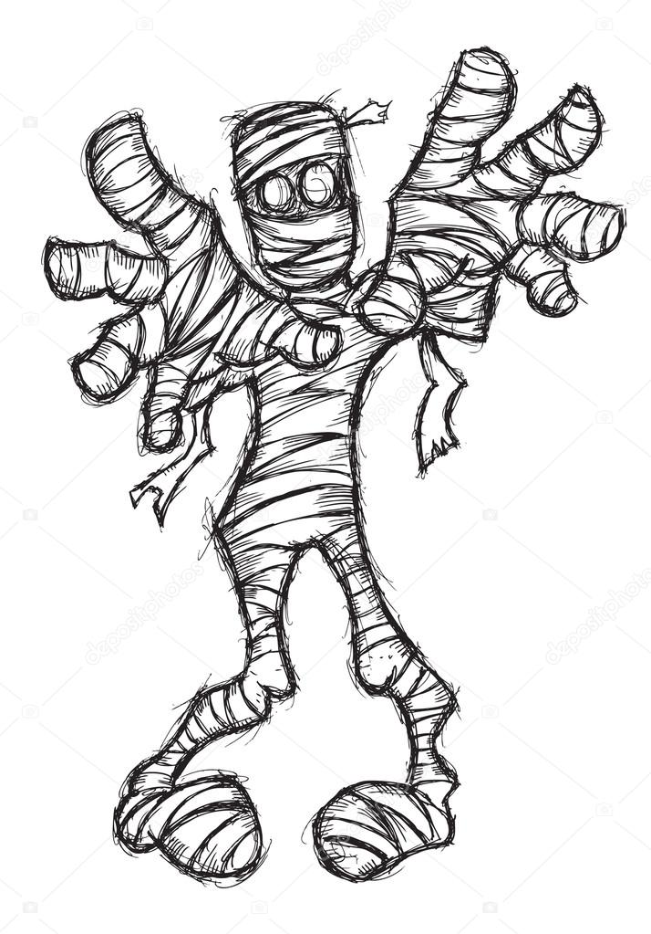 Grunge mummy suitable for Halloween event — Stock Vector ...