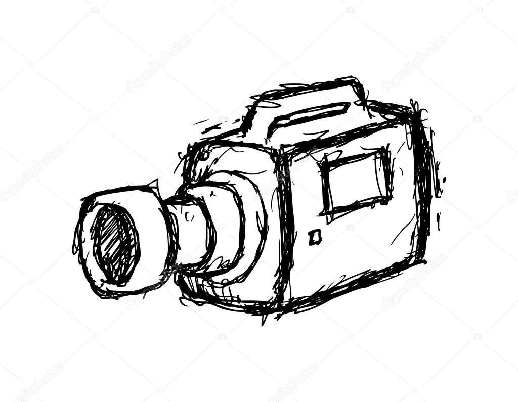 Grunge Camera Vector : Grunge handy cam u2014 stock vector © mhatzapa #38211245