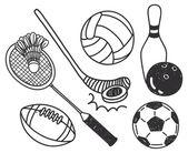 Set of sport ball