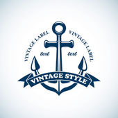Photo Vintage nautical emblem