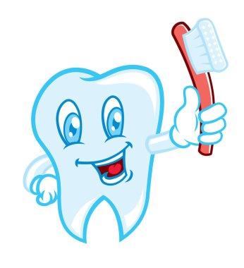 Tooth brushing cartoon