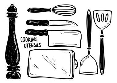 Kitchen utensil doodle