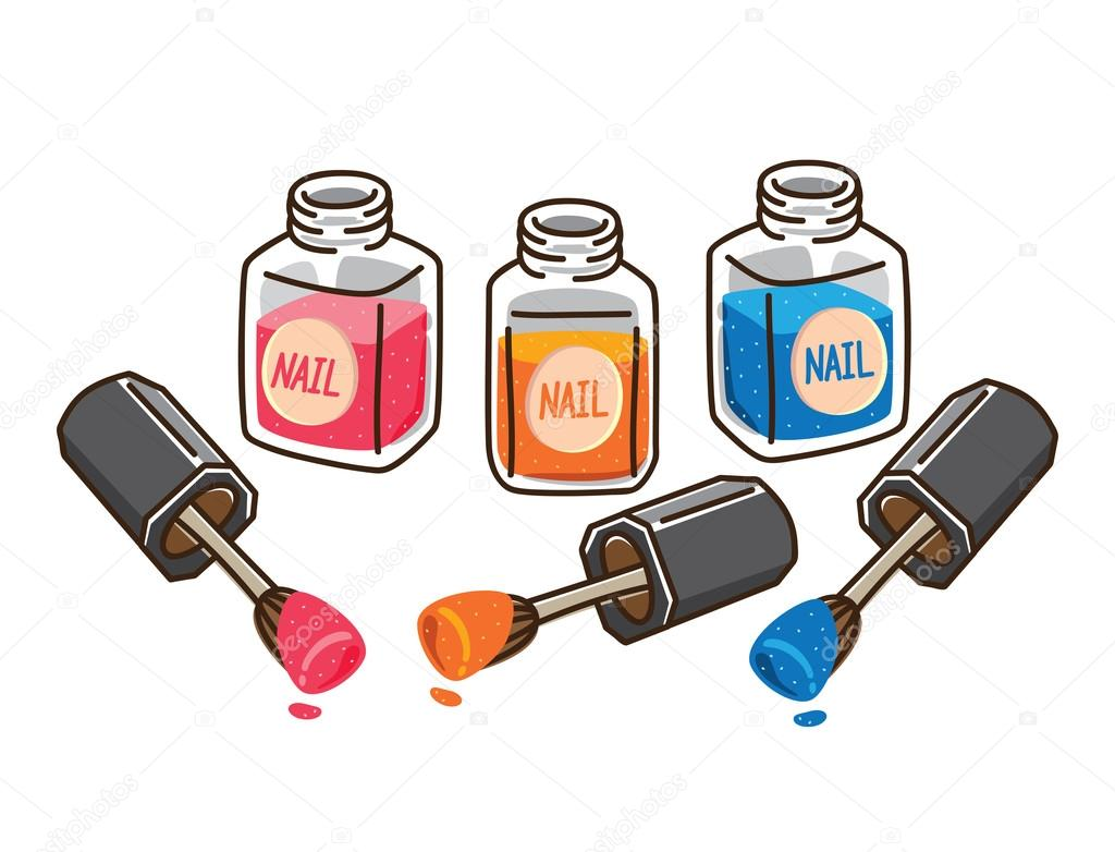 Cartoon nail polish — Stock Vector © mhatzapa #38225751