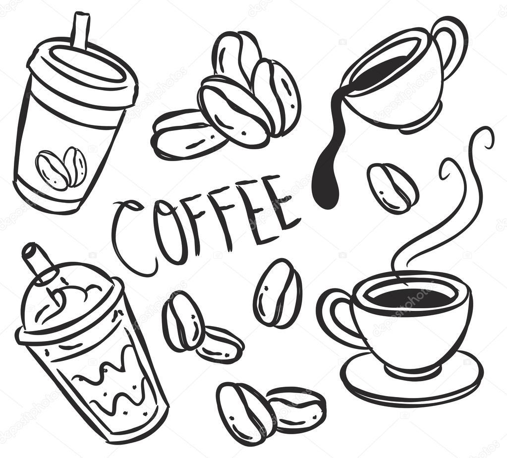 Кофе картинка для детей раскраска