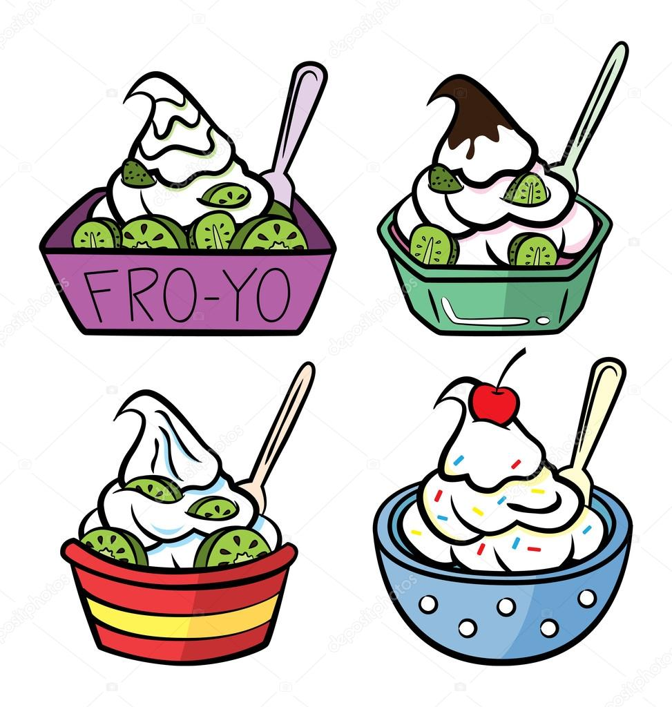 a cup of frozen yogurt stock vector mhatzapa 38229457 rh depositphotos com free frozen yogurt clipart
