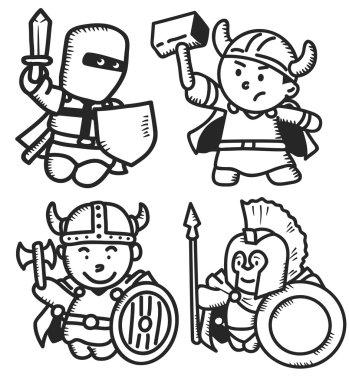 Warriors cartoon