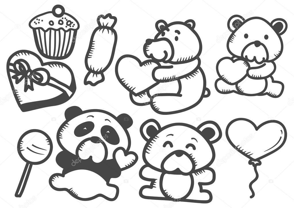 Kresleny Valentyna Doodle Stock Vektor C Mhatzapa 38230711