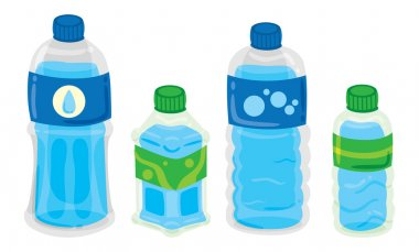 Set of plastic bottle