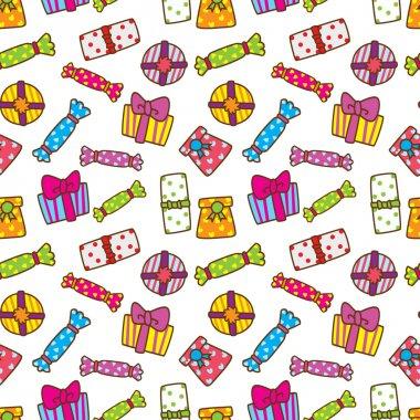 Gift box pattern clip art vector