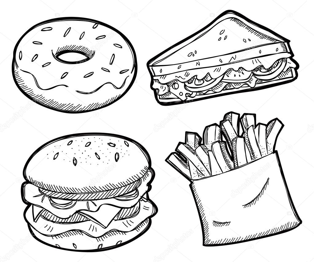 Good Fatty Food Coloring Page