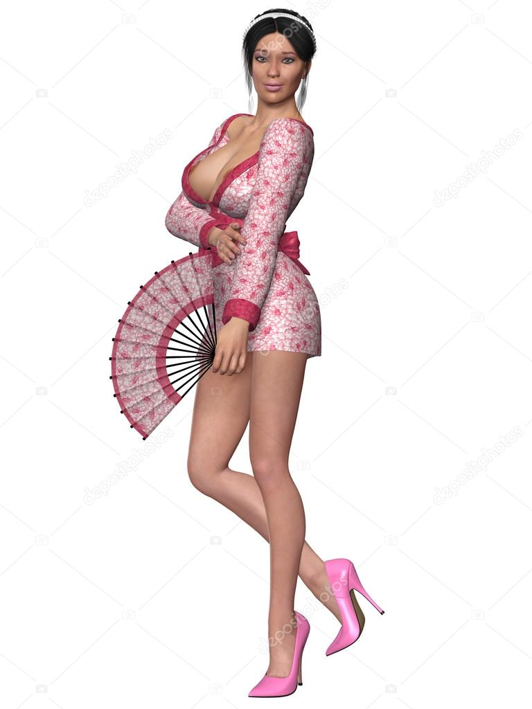 Sexy Geisha — Stock Photo © Digitalstudio #46280947