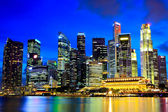 Singapore city skyline night