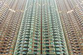 Fotografie über überfüllten Wohnblock in Hongkong