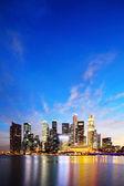 Singapore Marina Bay Business District at night