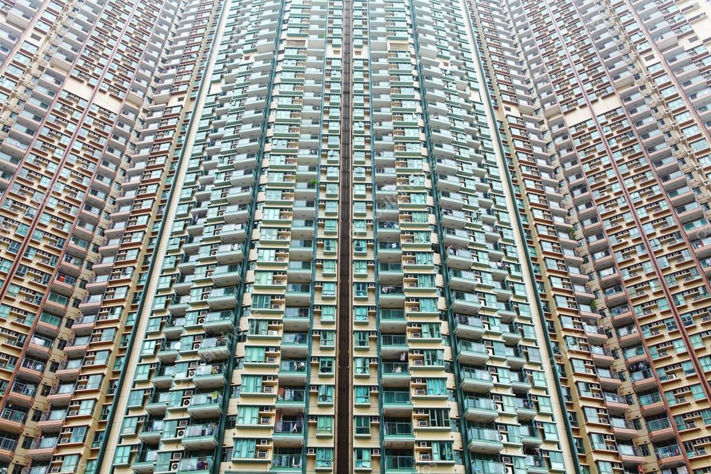 Edificio de apartamentos en hong kong foto de stock - Apartamentos en hong kong ...