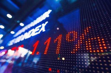 Stock market price drop display stock vector
