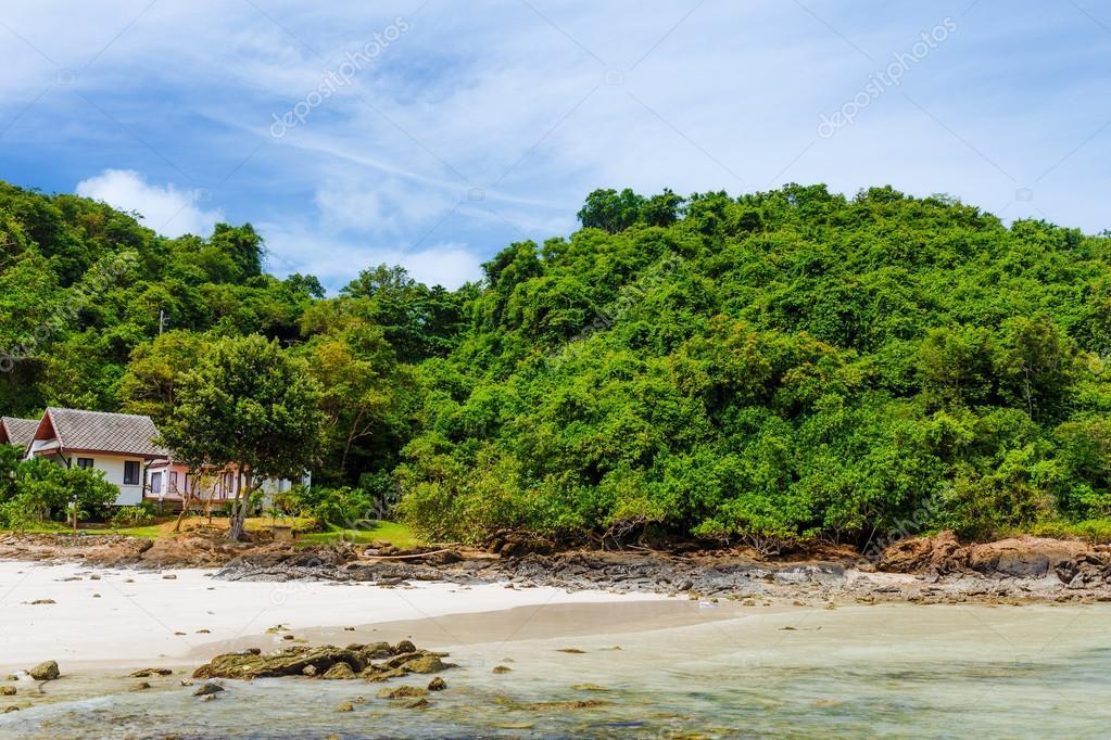 Beautiful beach on island