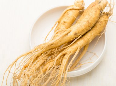 Fresh Ginseng in the bowl