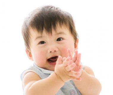 Beautiful smiling asian baby