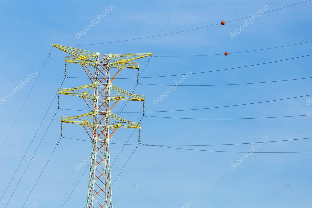 Power distribution tower cable — Stock Photo © leungchopan