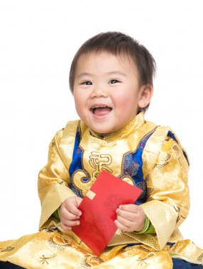 Chinese baby with traditional costume