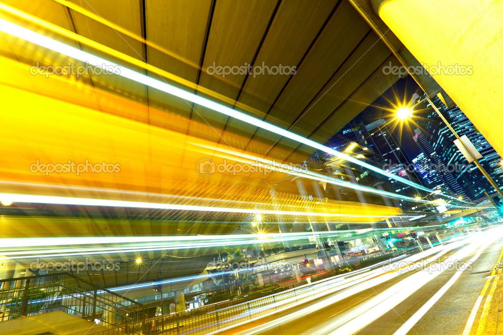 Фотообои Traffic trail in city
