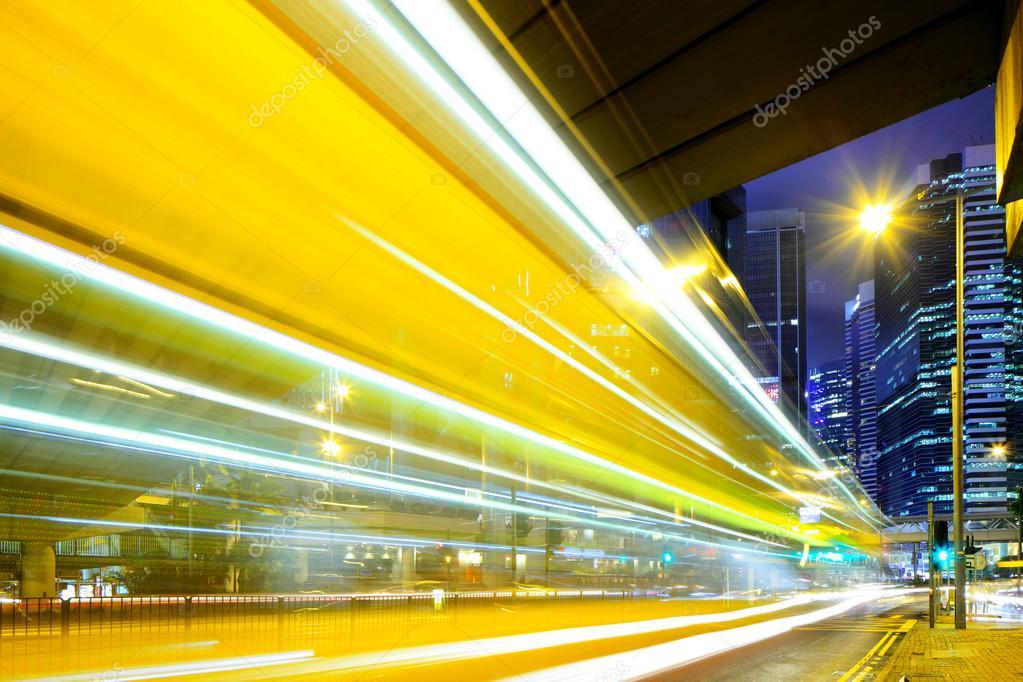 Фотообои Busy traffic in Hong Kong at night