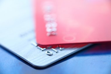 Credit card close up