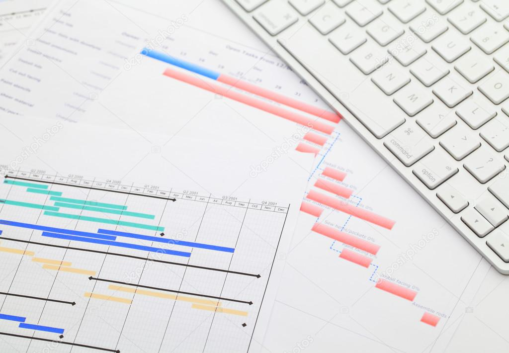 Gantt chart and keyboard stock photo leungchopan 42405129 gantt chart and keyboard stock photo ccuart Images