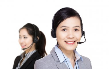 Asian customer service team