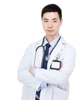 Asia male doctor portrait