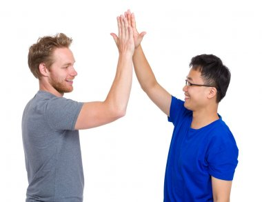 Man giving high five