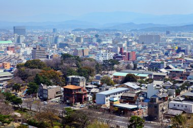 Wakayama cityscape in Japan