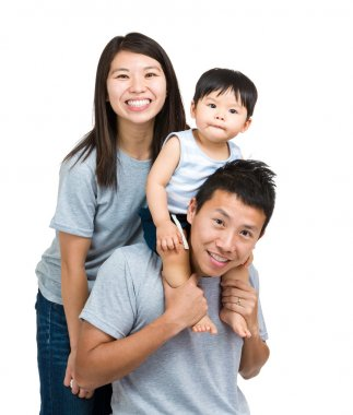Happy family with baby son