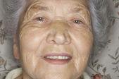 Extrémní Closeup starší ženský obličej