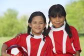 Fényképek A mező lány focisták